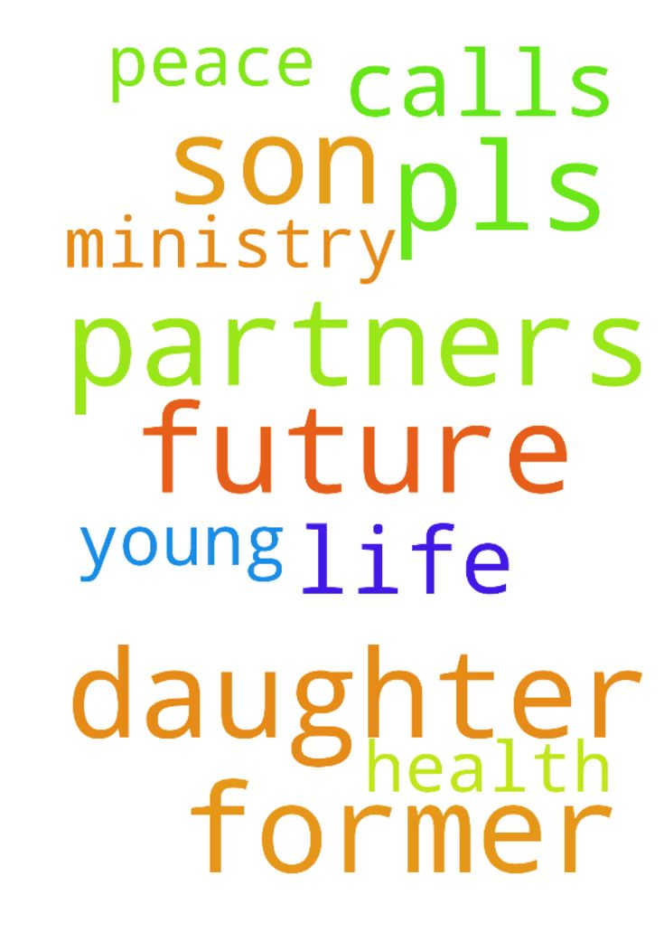 Pls pray for my daughter n son former - Pls pray for my daughter n son former young partners of jesus calls ministry for their health n future n peace n their future life partners. Posted at: https://prayerrequest.com/t/Um4 #pray #prayer #request #prayerrequest
