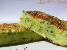 gâteau invisible courgettes / safran / parmesan
