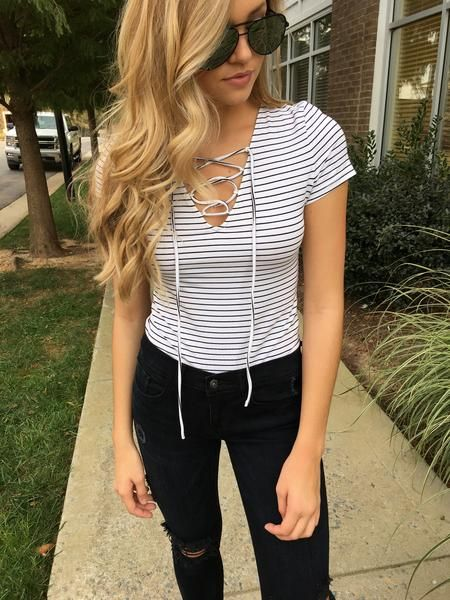 Corrine Stripe Bodysuit