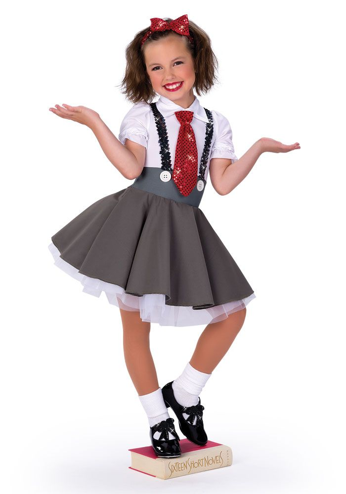 matilda poplin dress with lined front spandex bodice sequin suspenders removable sequin tie and - How To Make A Doll Costume For Halloween