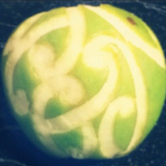Apple Carved by Allysha Taylor