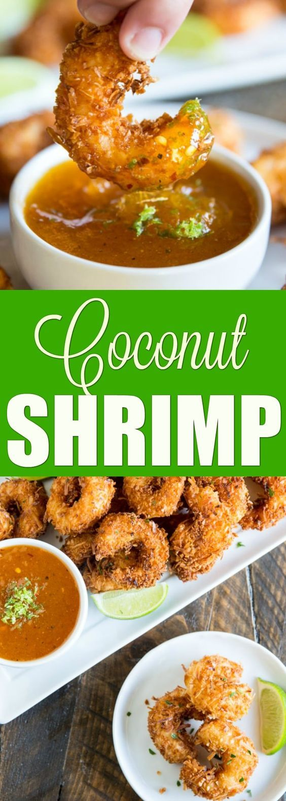 An easy recipe for crispy Coconut Shrimp. Battered in panko and lots of shredded coconut, these shrimp are deep-fried until crispy and golden brown. #ad @MDRFoods