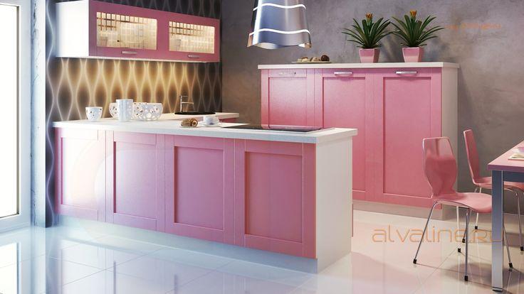 Розовые кухни от Альва, в любом другом цвете тоже!
