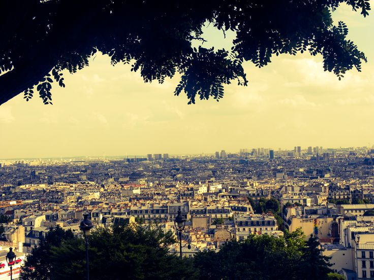 view from Sacre Ceuor, Paris, France