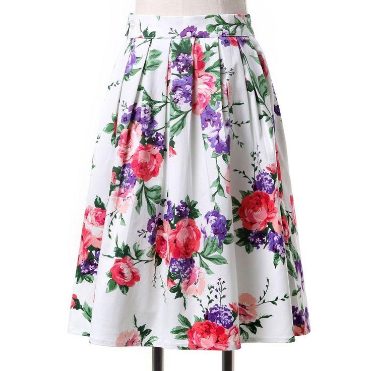 Vintage sukňa kvetovaná