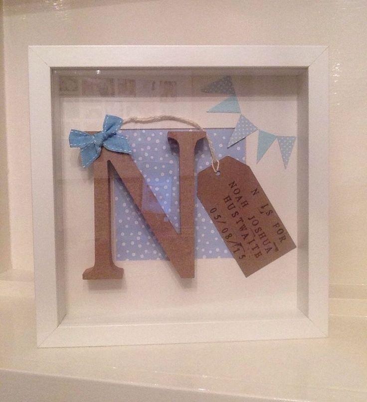 Personalised frame girl boy christening birthday new for Craftsman frame