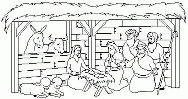 Dibujos Del Portal De Belen Para Colorear Nativity Coloring Pages Christmas Coloring Books Simple Nativity