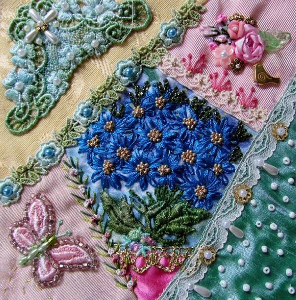 Best crazy quilts contemporary images on pinterest