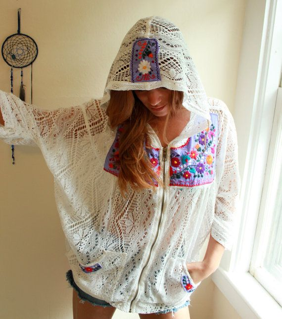 Mexican Embroidered Boho Hippie Beach by MountainGirlClothing