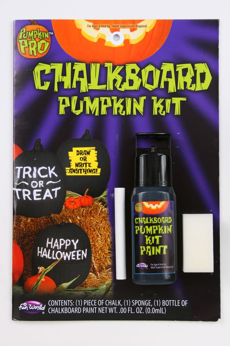 Chalkboard Pumpkin Decorating Kit | Wally's Party Factory #pumpkin #decoratingkit #chalkboard #halloween