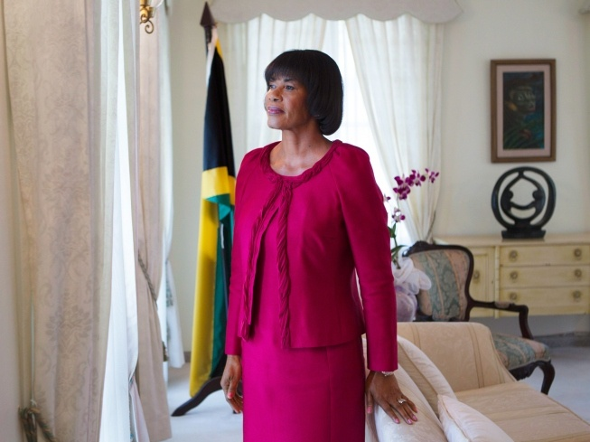 Jamaican Prime Minister Portia Simpson Miller, photographed in her office in Jamaica.  Christopher Morris—VII for TIME