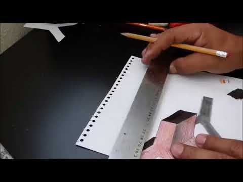 How to draw a perfect 3d letter Y / Como dibujar una letra perfecta de 3...