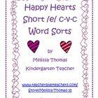 This activitiy includes 3 different short /e/ consonant-vowel-consonant word sorts: -ed & -eg, -en & -et, and -ex & -em.     This activit...