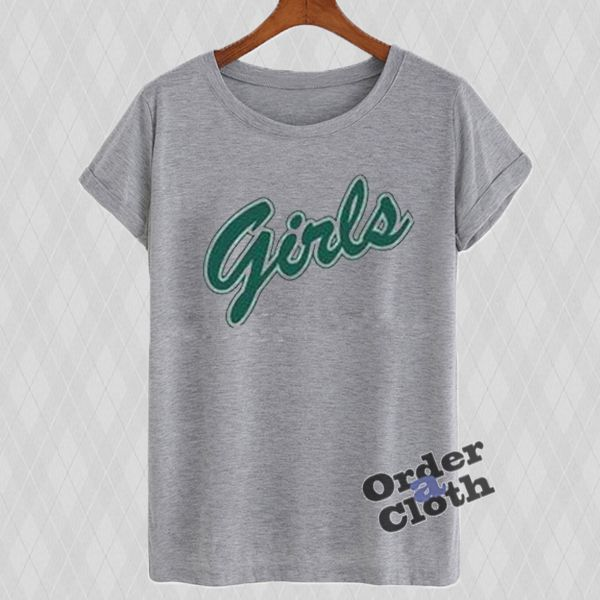 Girls green letters T-shirt from orderacloth.com