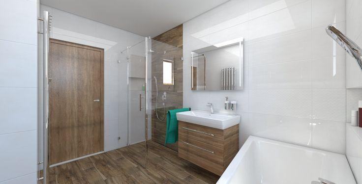 Návrh a vizualizácia kúpeľne s obkladom zo série RAKO - UP 30x60.