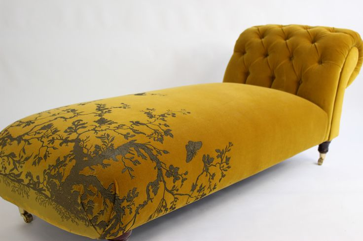 mustard yellow furniture - gorgeous chaise - Furniture - Timorous Beasties