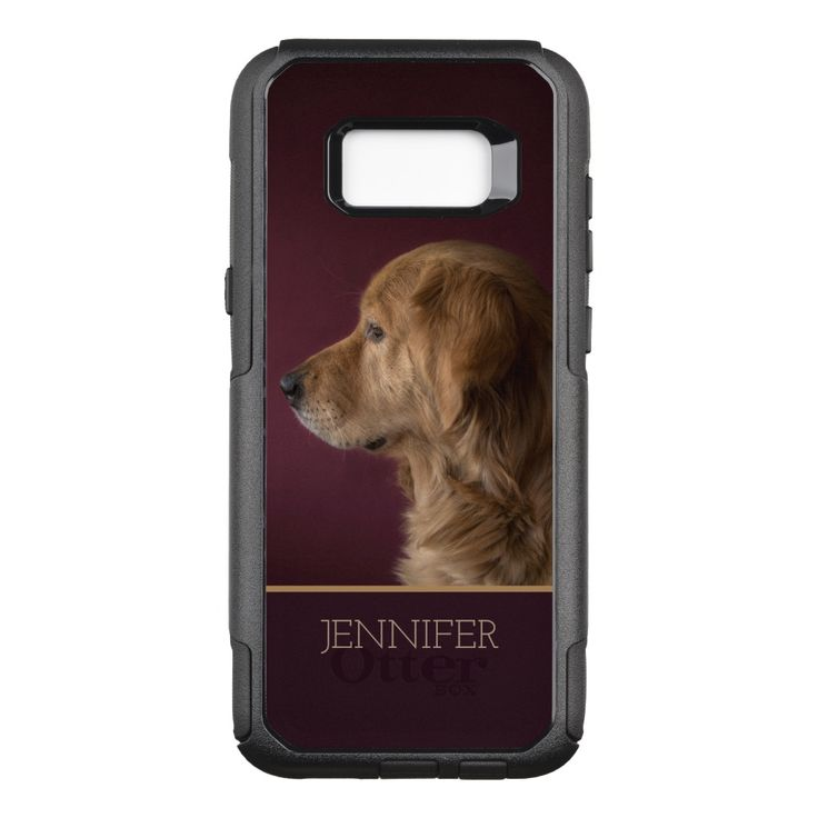 Golden Retriever Personalized Name Dog Otterbox Samsung Galaxy Case Zazzle Com Samsung Galaxy Galaxy S8 Dogs Golden Retriever