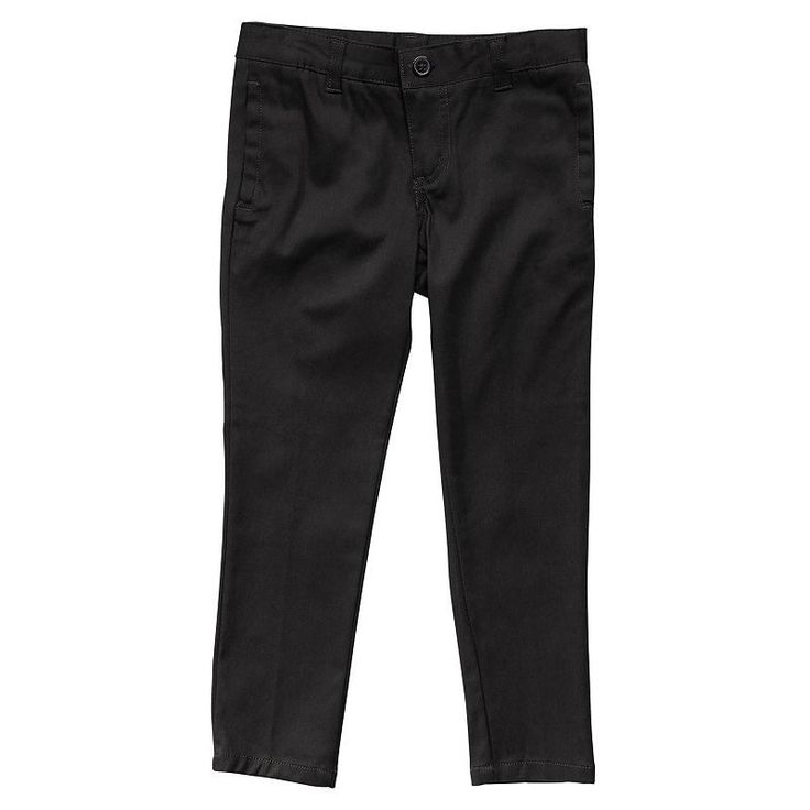 Girls 4-20 & Plus Size French Toast School Uniform Skinny Twill Pants, Size: 6X, Black