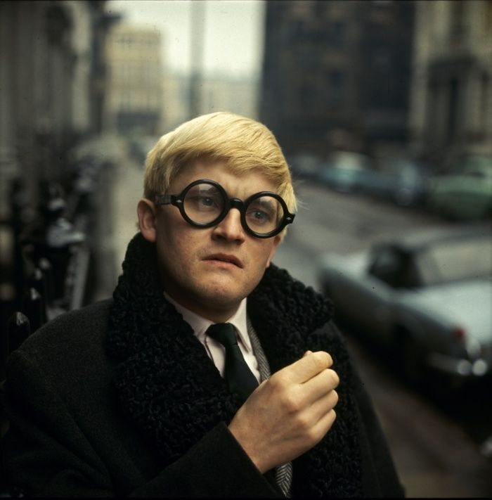 David Hockney, 1966. A rare colour photo by Jane Bown