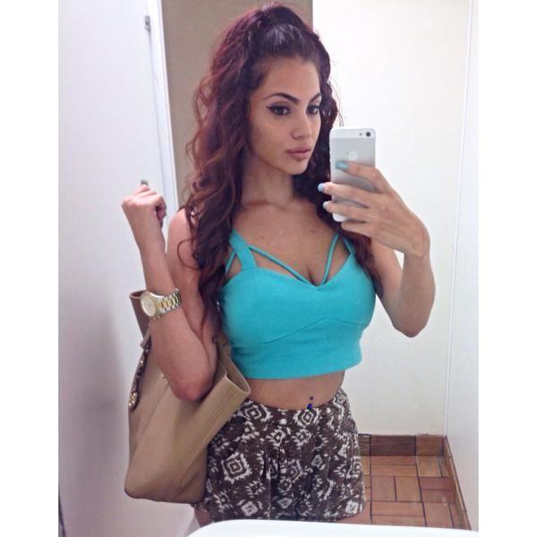 latina in shorts