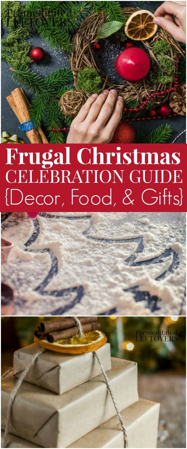 If your family is trying to save money this holiday season, consider this your Frugal Christmas Guide! Here are frugal tips for celebrating Christmas on a budget with money saving tips for Christmas gifts, holiday party food, DIY crafts, and Christmas decor ideas.