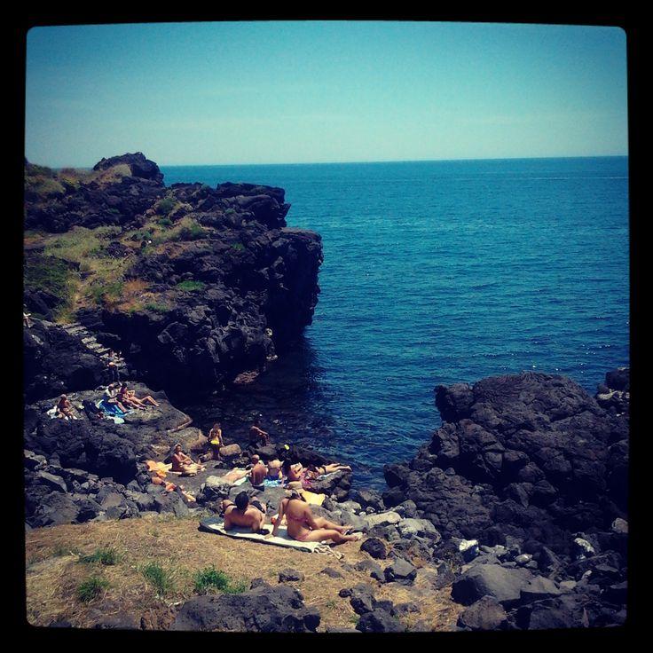 Lava beach close Catania #sicilia #holiday #summer #hellosicilia