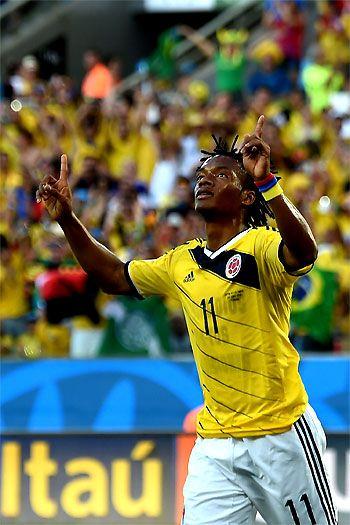 Juan Guillermo Cuadrado abrió la ruta ganadora de la selección #Colombia ante #Japón. #Brasil2014