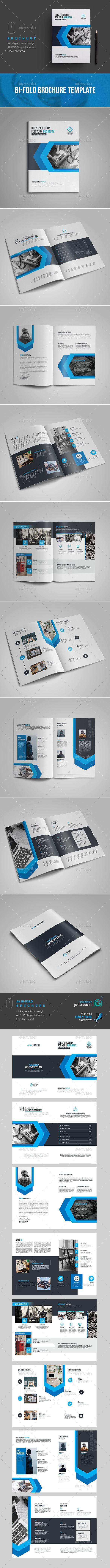 #Business #Brochure #Template - Brochures Print Templates Download here:  https://graphicriver.net/item/business-brochure-template/19405304?ref=alena994