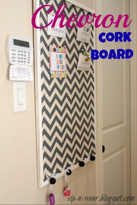 sip-n-wear: Chevron cork board