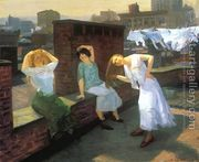 Sunday, Women Drying Their Hair  by John Sloan