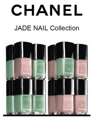Chanel Le Vernis Jade Collection: Chanel Jade, Nails Collection, Nailpolish Manicures, Collection Swatch, Nails Polish Collection, Jade Rose, Rose Nails, Jade Nails, Chanel Nails Varnish