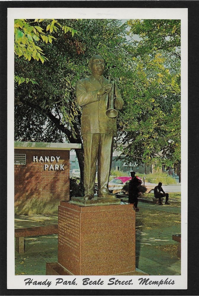 "William Christopher Handy ""Father of the Blues"" Handy Park, Beale Street, Memphis, Tennessee TN postcard"