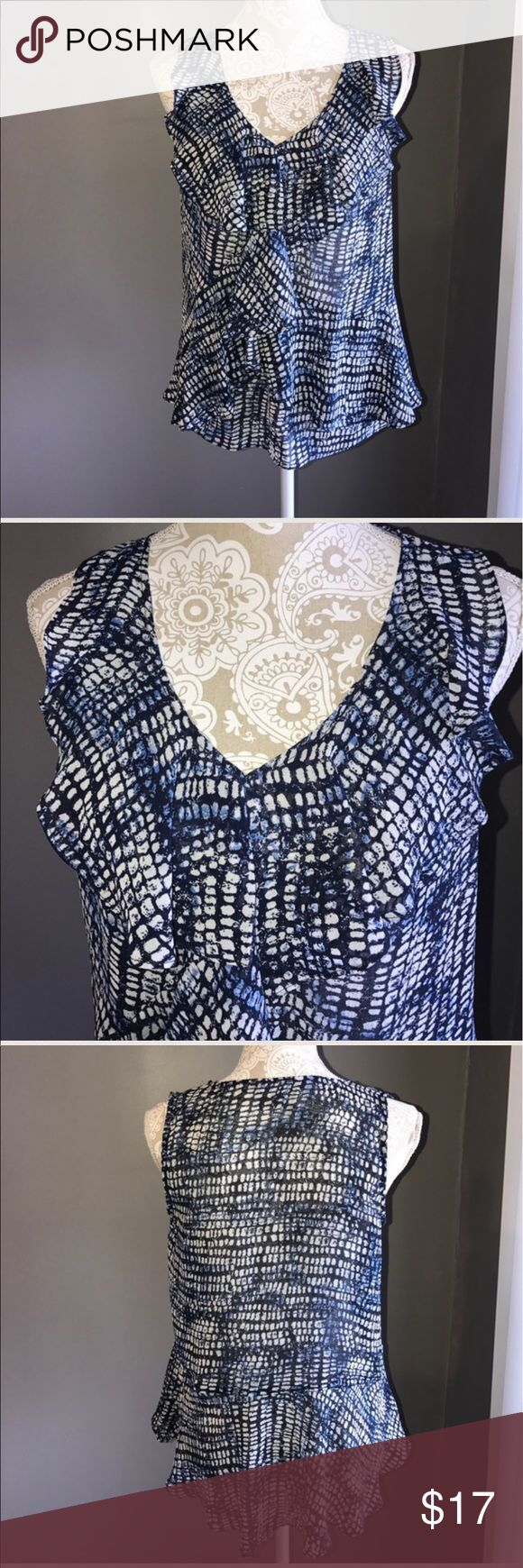 Daisy Fuentes Top ruffles in the right places S Daisy Fuentes Top ruffles in the right places in my opinion size S Daisy Fuentes Tops