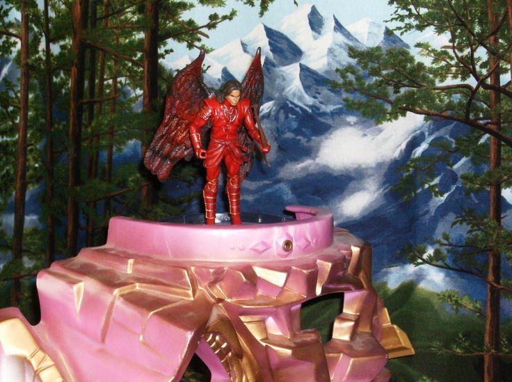 Uriel perched for battle.