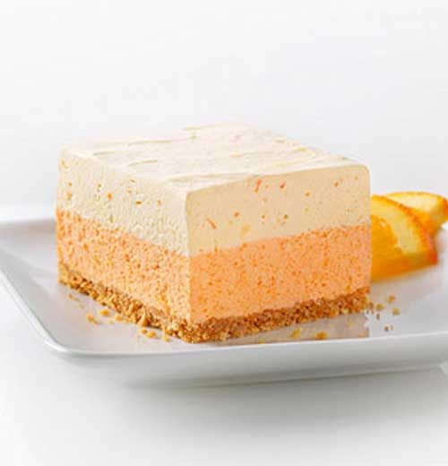 Recipe for Orange Dream Layered Squares - Here is a fun recipe that has many flavor options if you are willing to experiment. You can easily change the flavor of this dessert by substituting another flavor of Jell-O gelatin for the orange.