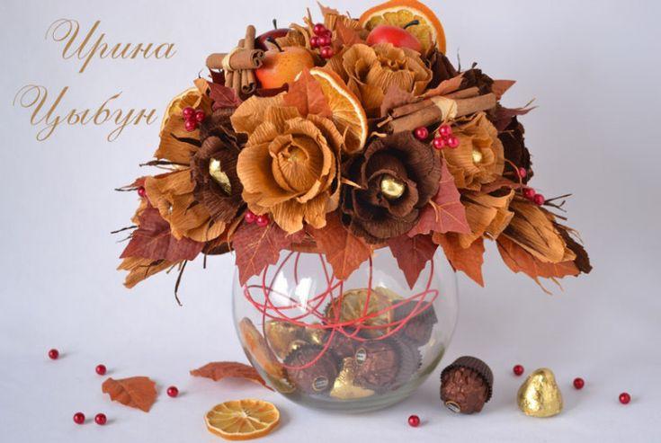 Букет на бокале из конфет. Мастер-класс от Ирины Цыбун :: BlogRider.ru