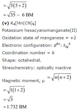 NCERT CBSE Standard 12 Co-ordination Compounds Chapter 9