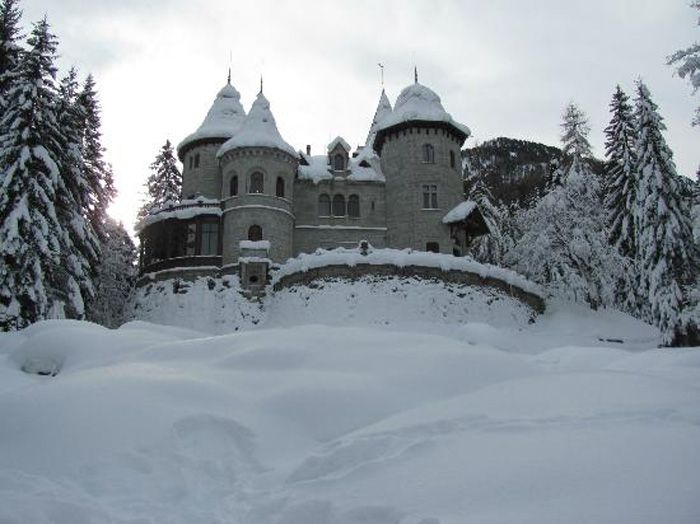 Gressoney - Castel Savoia in inverno