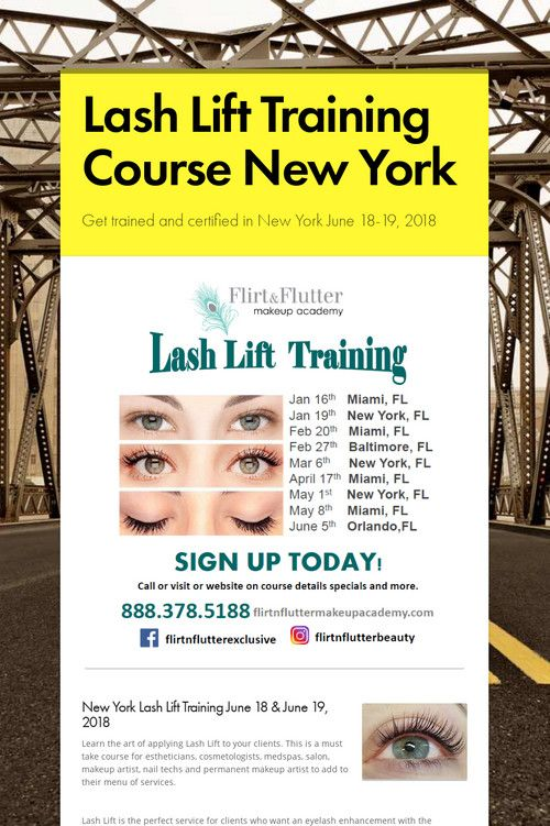 Lash Lift Training Course New York Lash Lift Training New York