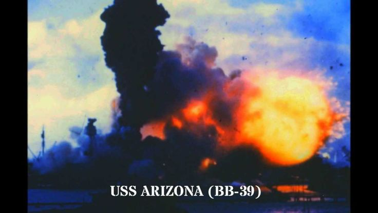 Pearl Harbor - Dec. 7, 1941 - The only color film of the attack