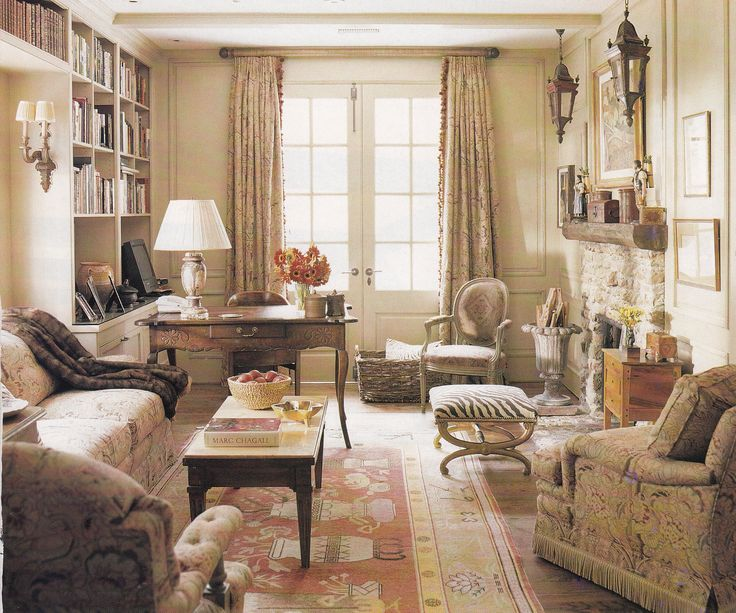 Virginia Country Living Room By Dan Carithers Architect Norman Askins