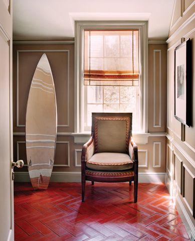 surfboard dressing mirror in los angeles ca home by ferguson u0026 shamamian architects llp