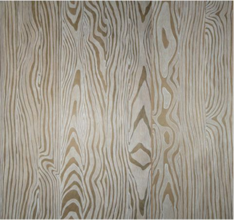 Ten Different Wood Grain Planks Were Hand Drawn To Make Up The Design Using White