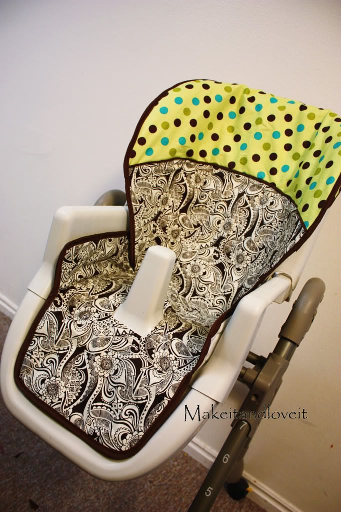 recover your high chair tutorial ! I have this exact highchair - i may definitely have my grandmother make this for me