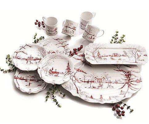 Juliska Country Estate Holiday Collection  sc 1 st  Pinterest & Best 190 Christmas Dinnerware images on Pinterest | Christmas ...