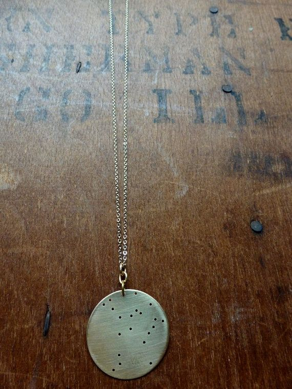 Hercules. Lost zodiac constellation pendant by BroadStreet on Etsy, $40.00