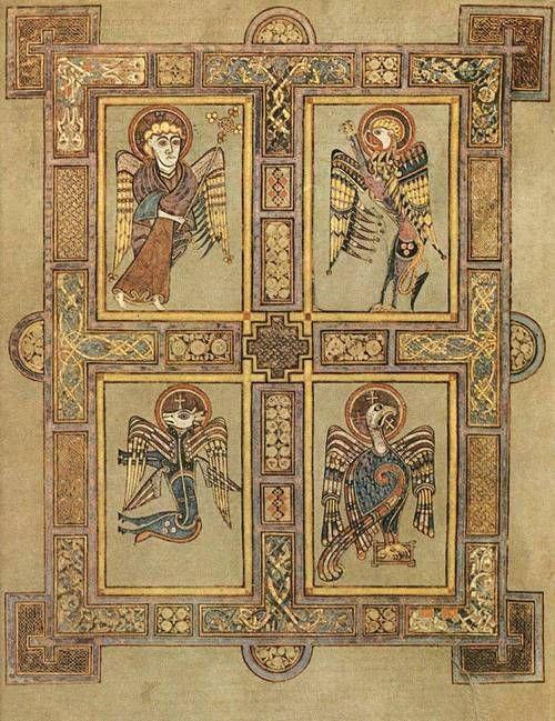Símbolos dos quatro evangelistas, Livro de Kells 800 dC