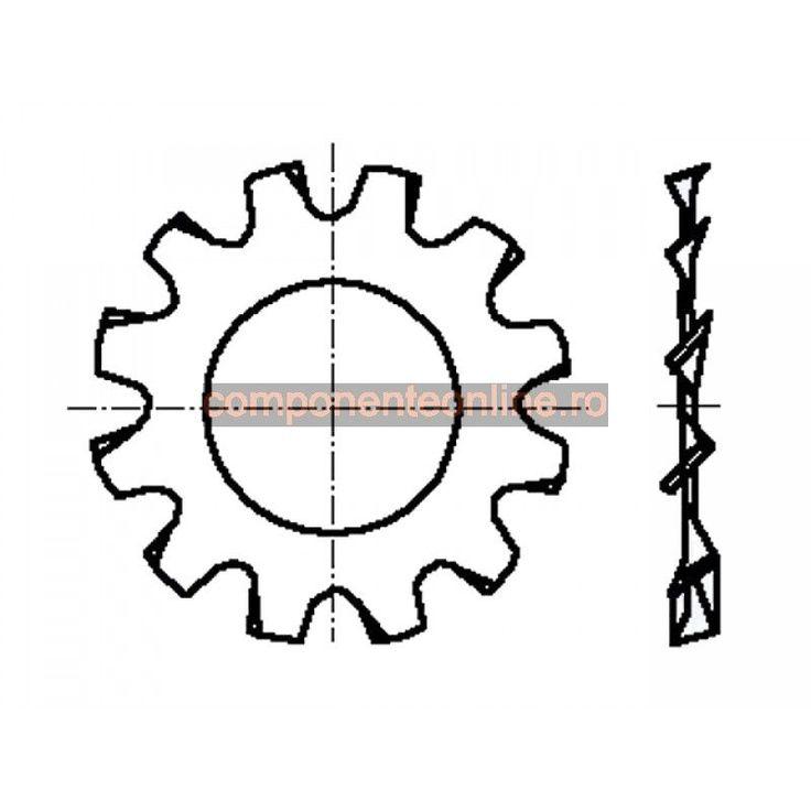 Saiba dintata in exterior, 3,2x6mm, otel zincat, Bossard - 007257