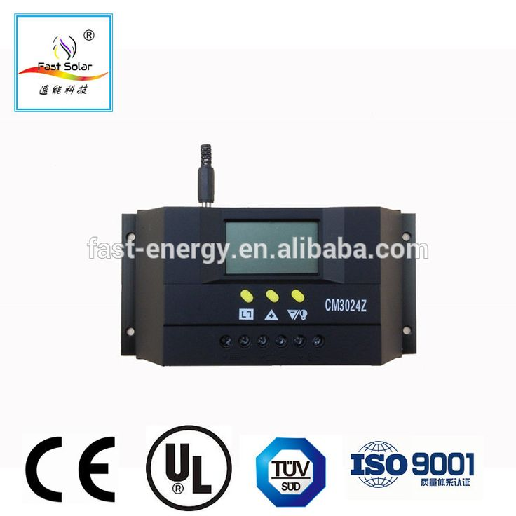 Fast Solar 30A 12V/24V PMW Solar Charge Controller With LCD Display for Solar street light/solar system
