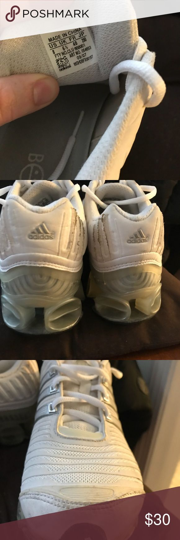 Adidas bounce White color, perfect condition👍🏻 adidas Shoes Sneakers